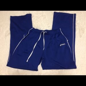 asics royal blue track pants. Size small